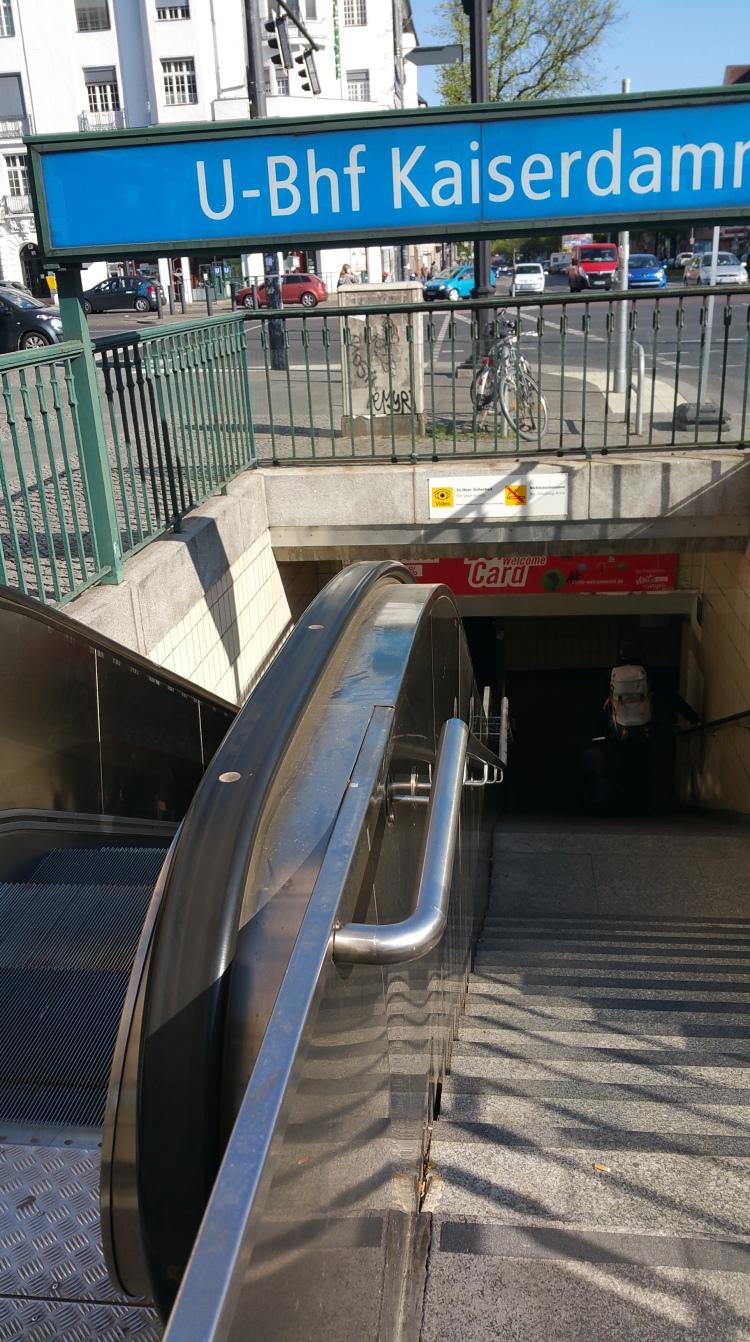 The escalators were