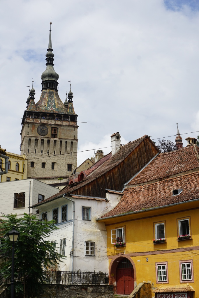 towers and rooflines in Sighisoara