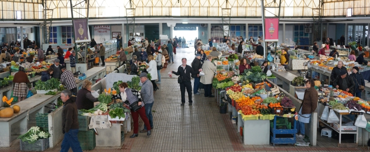 Produce market in Nazare Portugal