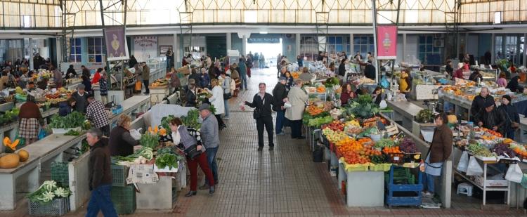 Produce market in Nazare Portugal