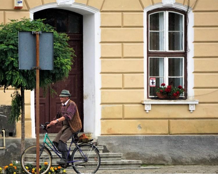 Local Cyclist in Biertan