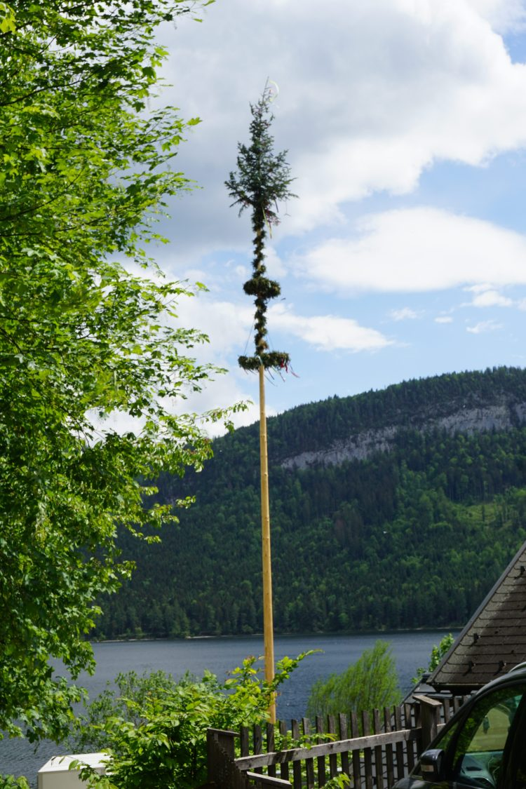 Maypole on Lake Hallstatt