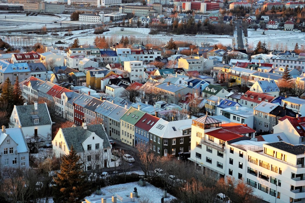 colored roofs Reykjavik