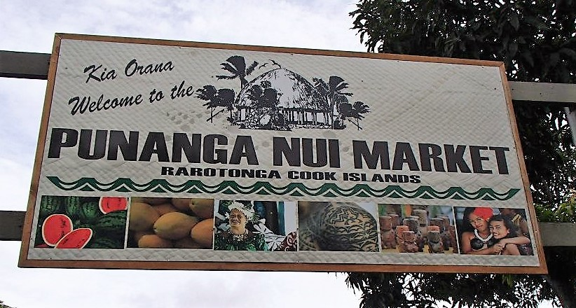 the Punanga Nui Market Rarotonga