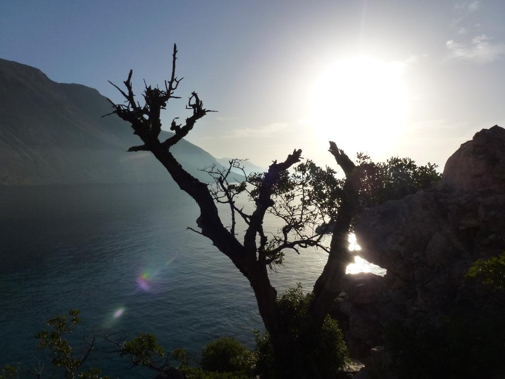 Sunset in Loutro, Crete