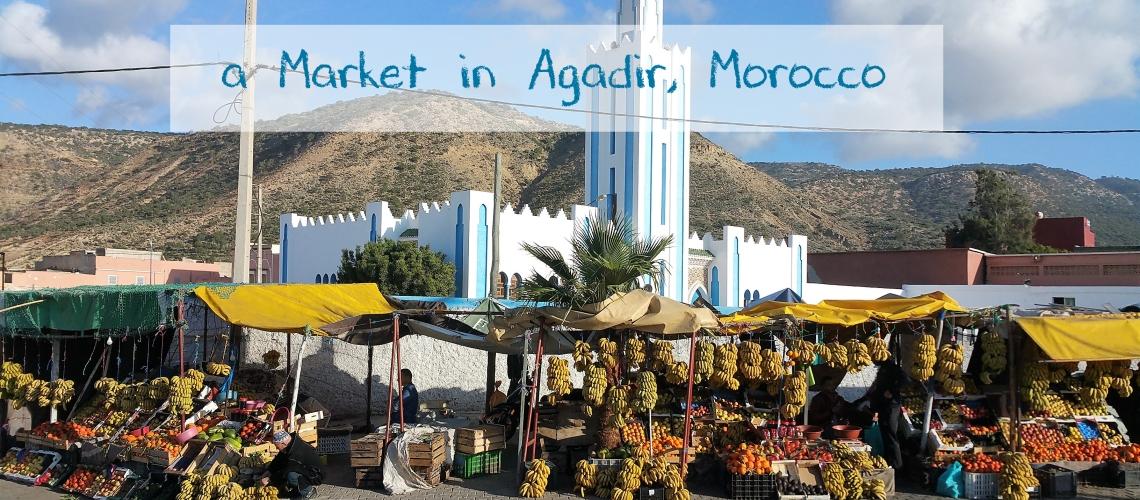 banana stall in Agadir