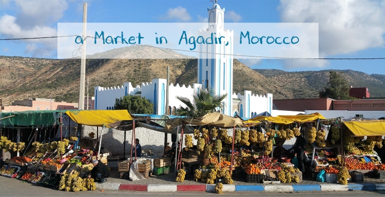 banana stall in Agadir