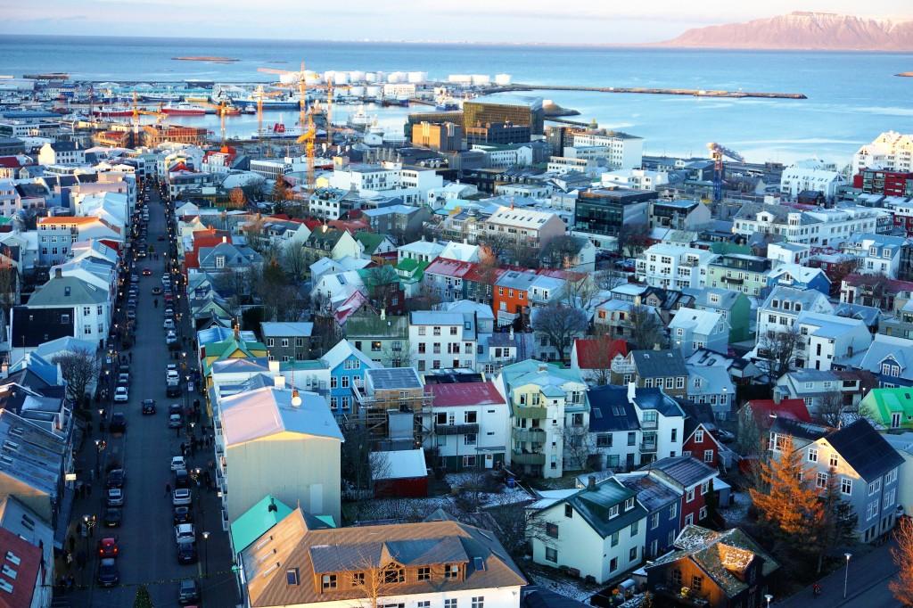 pastel roofs of Reykjavik